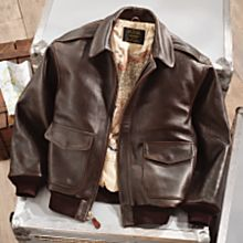 Men's Leather A-2 Flight Jacket