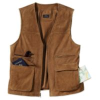 Travel Vest - National Geographic Leather Travel Vest - XLarge