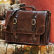 National Geographic Bolivian Leather Travel Briefcase