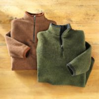 Scottish Sweaters - Scottish Wool Zip Pullover