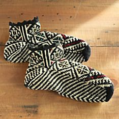 Eastern European Hand-Knit Bosnian Slipper Socks