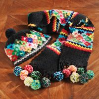 Crochet Hat - Juliaca Crochet Hat And Scarf Set
