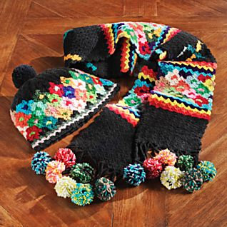 Juliaca Crochet Hat and Scarf Set