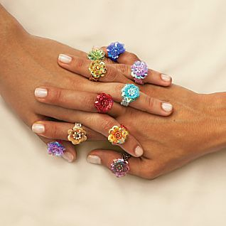 View Javanese Flora Beaded Rings image