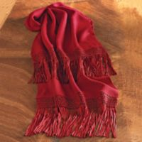 Clothing and Accessories - Bolivian Macram Alpaca Shawl