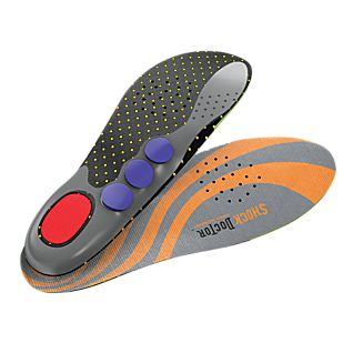 Shock-absorbing Foot Beds With Custom Support