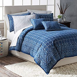 Hand Block-printed Indigo Bedding