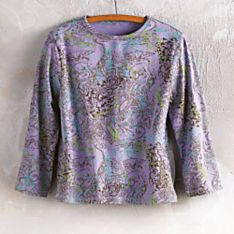 Women's Indian Lapis and Lavender Henna Shirt
