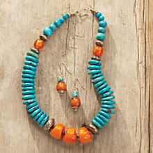 Amber Tibetan Blue Sky Earrings