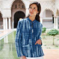 Blazer - Reversible Shibori Indigo Jacket