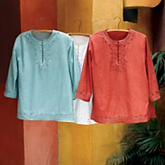 Women's Land of Five Rivers Embroidered Tunic