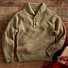 Mens Lightweight Travel Wool Sweater
