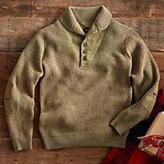 Canvas Wool Wwii Military Sweater