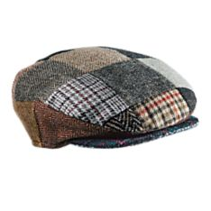 100% Wool Irish Donegal Tweed Cap