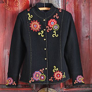 Embroidered Miao Wool Jacket