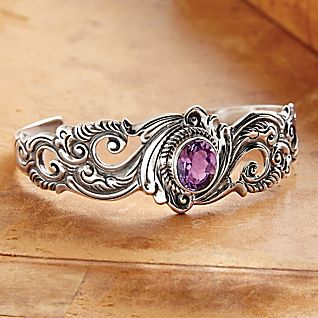 View Balinese Amethyst Cuff image