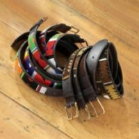 Beaded Belts - African Geometric Beaded Belts - Bright African