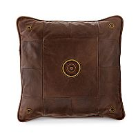 African Embellished Leather Pillows - Circular Designs