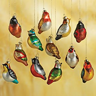 View Set of 12 Blown-glass Chinese Songbirds image