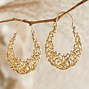 Egyptian Arabesque Gold Earrings
