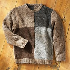 Handwoven Men's Irish Donegal Tweed Sweater