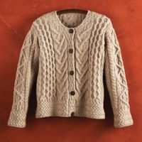 Irish Wool Cardigan - Women's Merino Wool Irish Cardigan