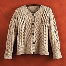 Women's Women's Merino Wool Irish Cardigan