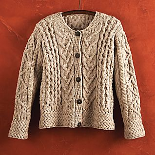 View Women's Merino Wool Irish Cardigan image