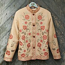 Kashida Embroidered Linen Jacket