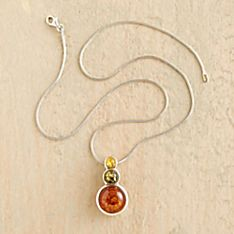 Amber and Sterling Silver Jewelry
