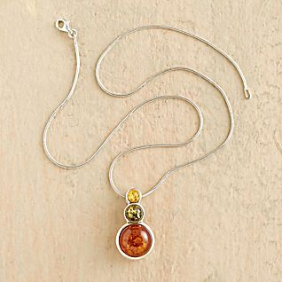 View Tricolor Baltic Amber Necklace image