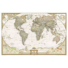 World Political Map (Earth-Toned), Mounted, 2007