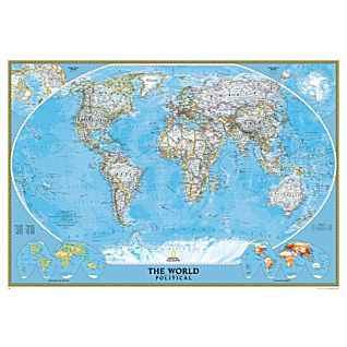 View World Political Map (Classic), Mounted image