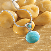 Peruvian Copacati Amazonite Necklace