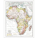 1909 Africa Map, Laminated