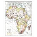 1909 Africa Map, Laminated