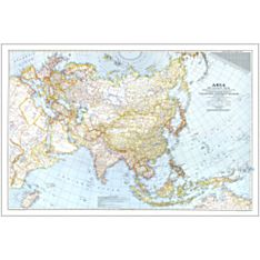 1942 Asia and Adjacent Areas Map, Laminated