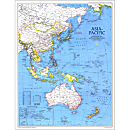 1989 Asia-Pacific Map, Laminated