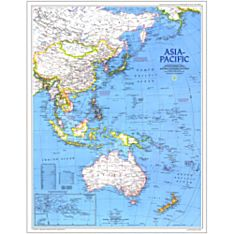 1989 Asia-Pacific Wall Map, Laminated