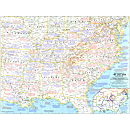 1961 Battlefields of The Civil War Map, Laminated