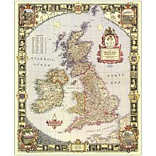 1949 British Isles Wall Map