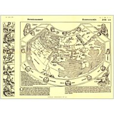1493 Chronicon Nurembergense Map, Laminated