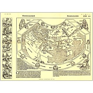 View 1493 Chronicon Nurembergense Map, Laminated image