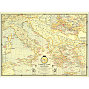 1940 Classical Lands of the Mediterranean Map, Laminated