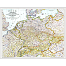 1938-39 Germany and Its Approaches Map, Laminated