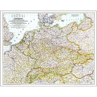 View 1938-39 Germany and Its Approaches Map, Laminated image