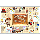 1995 Historical Italy Map, Laminated