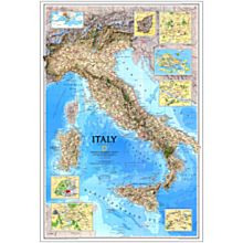 1995 Italy Wall Map, Laminated