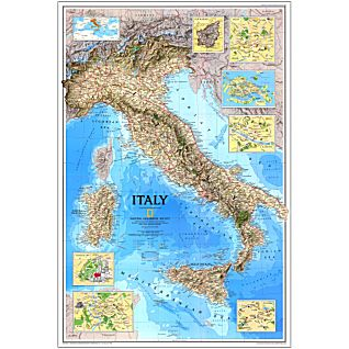 View 1995 Italy Map, Laminated image