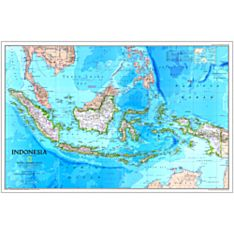1996 Indonesia Wall Map, Laminated